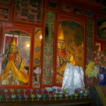 Je Tsongkhapa and Gyaltsab Je in the prayer hall