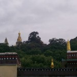 View of Swayambhu Stupa from Phelgye Ling Monastery