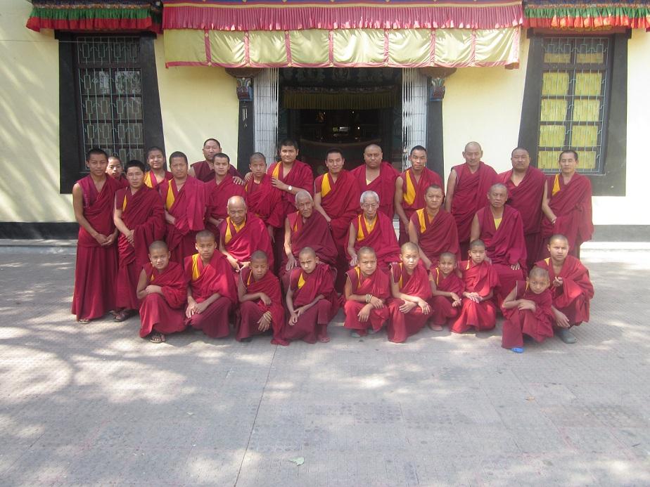 Monks of Phelgye Ling Monastery